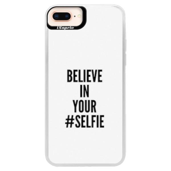 Neonové pouzdro Pink iSaprio - Selfie - iPhone 8 Plus