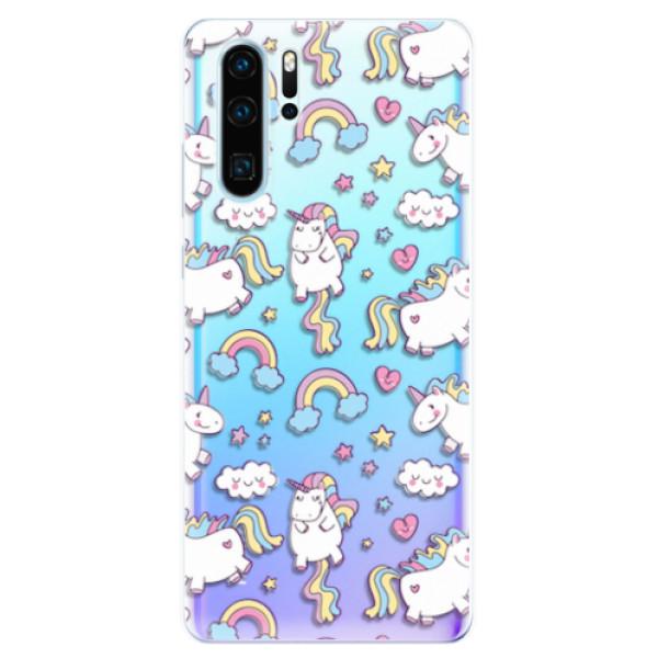 Odolné silikonové pouzdro iSaprio - Unicorn pattern 02 - Huawei P30 Pro