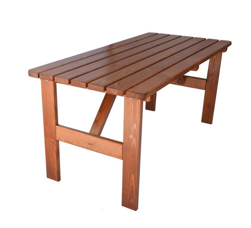 Zahradní dřevěný stůl Viking - 180 cm, lakovaný