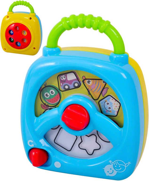 Baby skříňka hrací 13cm s melodiemi plast pro miminko Zvuk