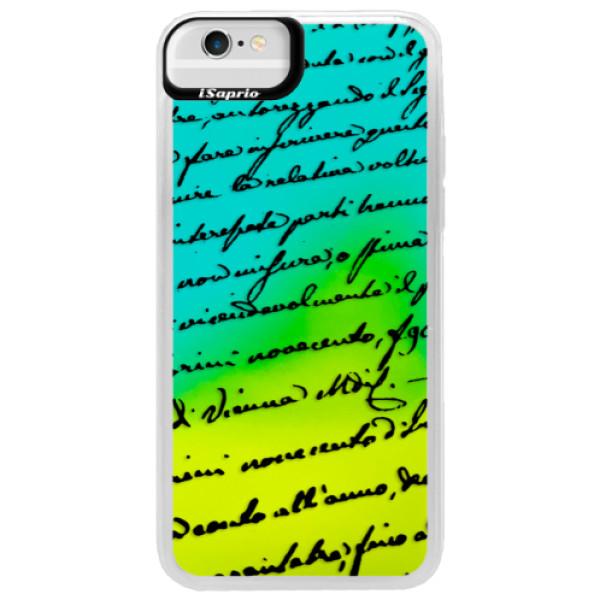 Neonové pouzdro Blue iSaprio - Handwriting 01 - black - iPhone 6/6S