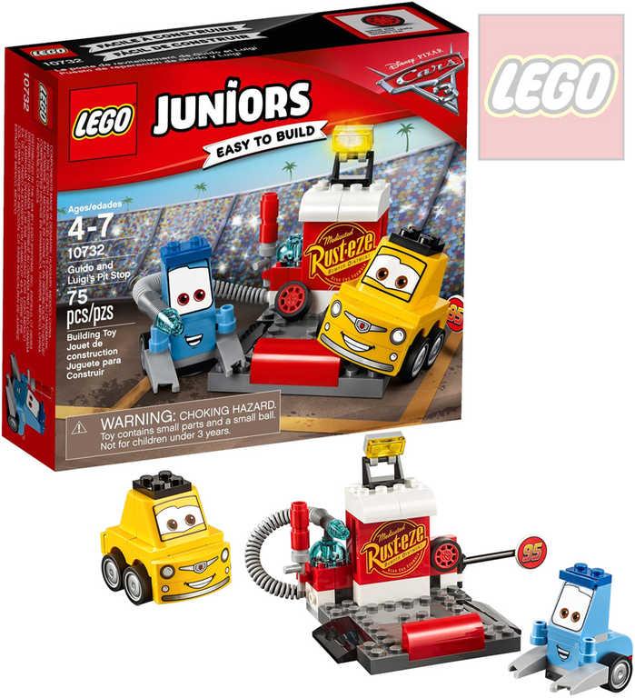 LEGO JUNIORS Zastávka v boxech Guida a Luigiho 10732 STAVEBNICE