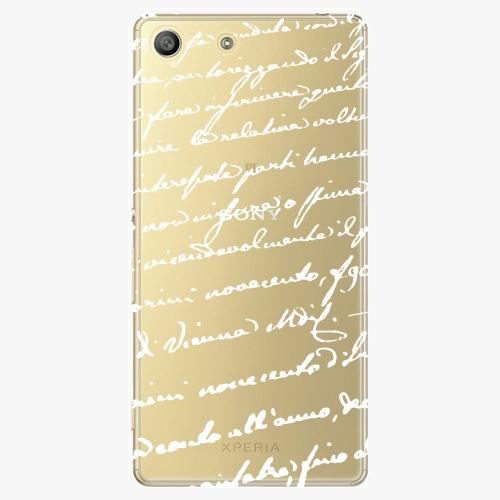 Plastový kryt iSaprio - Handwiting 01 - white - Sony Xperia M5