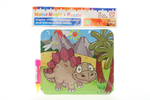 Vodní malování - Dino Stegosaurus