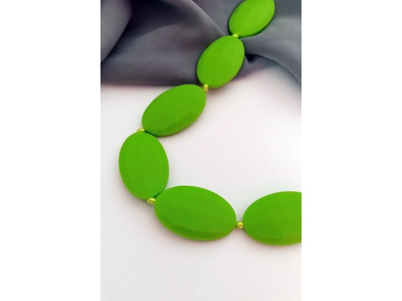 MIMIKOI - Kojící korále zelené oblázky
