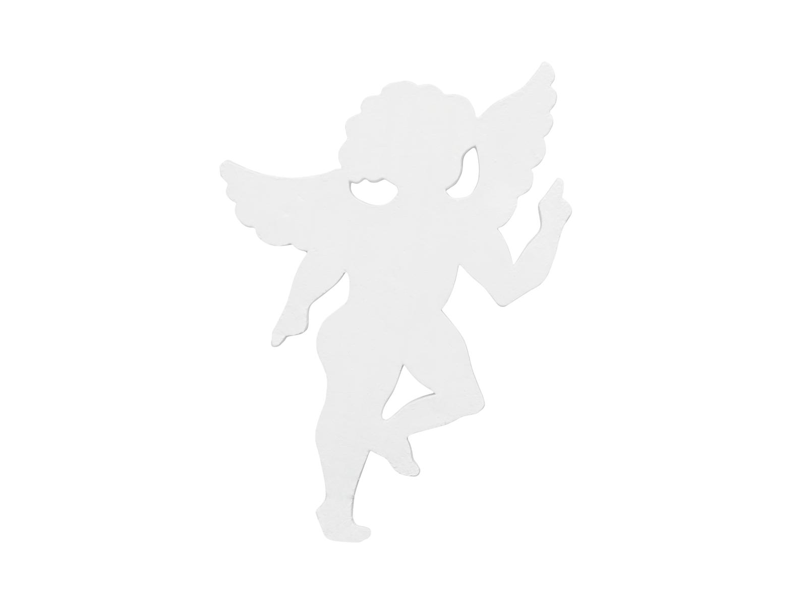 Silueta anděla, bílá, 60cm