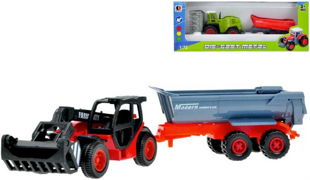 Stroj zemědělský set s vlečkou kombajn / nakladač na volný chod