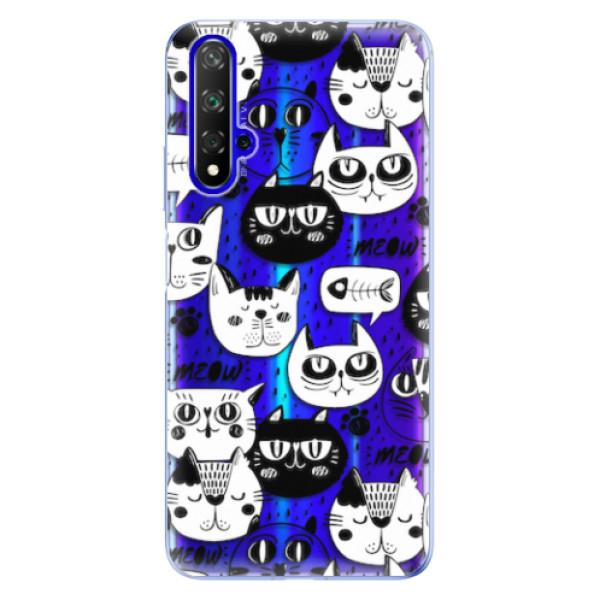 Odolné silikonové pouzdro iSaprio - Cat pattern 03 - Huawei Honor 20