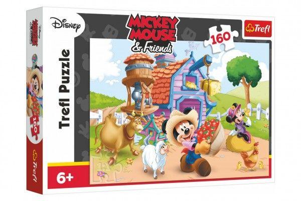 Puzzle Farmář Mickey Disney 41x27,8cm 160 dílků v krabici 29x19x4cm