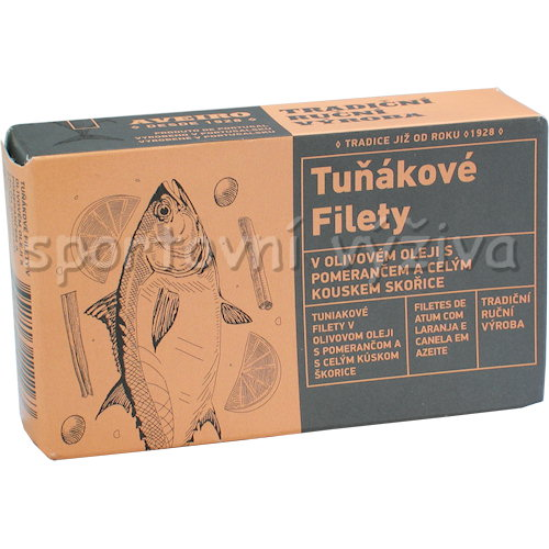 Tuňákové filety v oli.oleji s pomerančem 120g