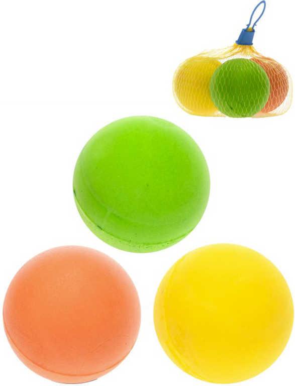 Míček soft lehký 7cm měkký set 3ks 3 barvy v síťce