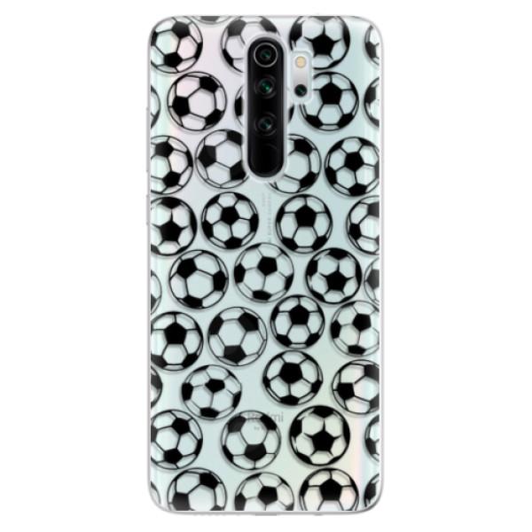 Odolné silikonové pouzdro iSaprio - Football pattern - black - Xiaomi Redmi Note 8 Pro