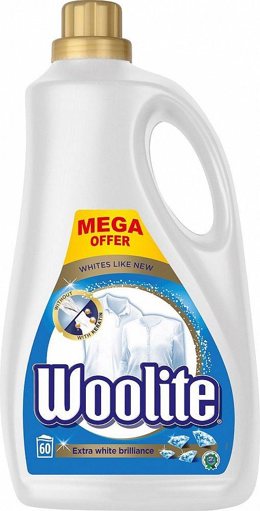 Woolite Extra White Brillance prací gel 60 praní, 3,6 l