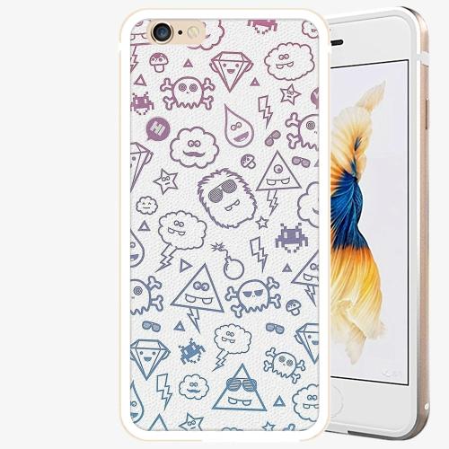Plastový kryt iSaprio - Funny Clouds - iPhone 6 Plus/6S Plus - Gold