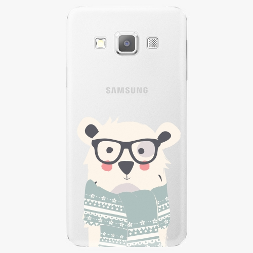 Plastový kryt iSaprio - Bear With Scarf - Samsung Galaxy A7