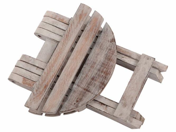 Skládací stolek DIVERO Vintage - 31 cm