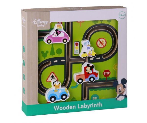 Disney dřevěný motorický labyrint - Mickeyho svět