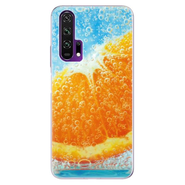 Odolné silikonové pouzdro iSaprio - Orange Water - Honor 20 Pro