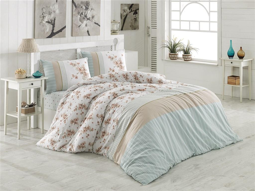 Povlečení francouzské bavlna 220x220, 70x90 Elin béžová, Výběr zapínání: