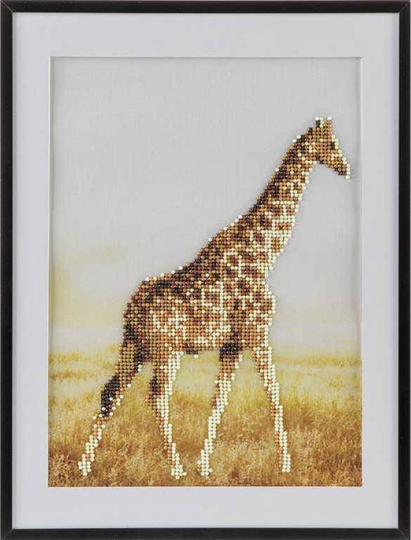 Diamond mozaika žirafa 30x40cm malování s kamínky kreativní set v krabici