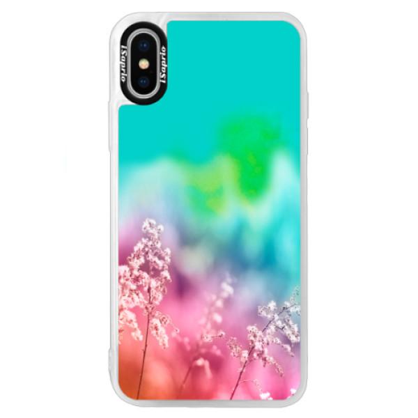 Neonové pouzdro Blue iSaprio - Rainbow Grass - iPhone X