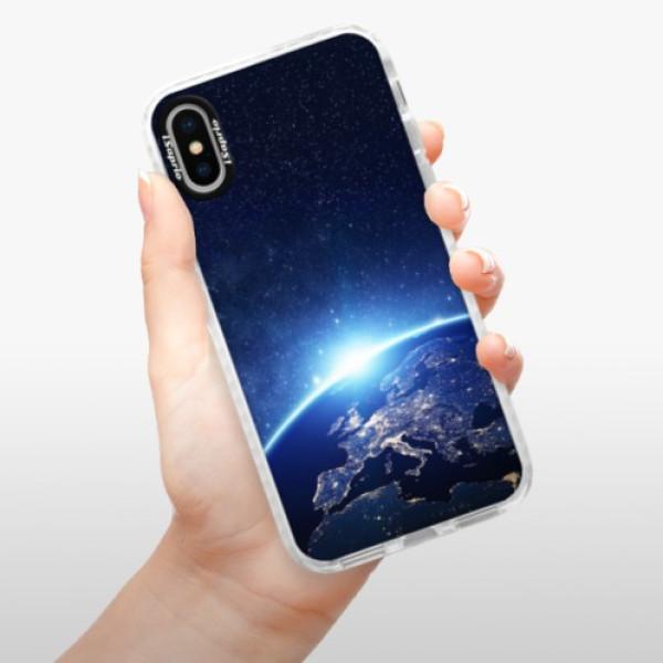 Silikonové pouzdro Bumper iSaprio - Earth at Night - iPhone X