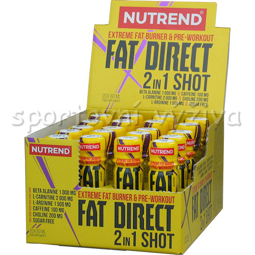 Fat Direct 2 in 1 shot 20 ampulí akce