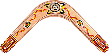 Bumerang Flower - Pravoruký