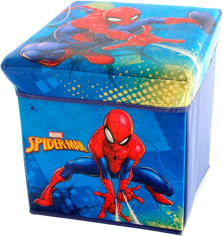 Box úložný Spiderman 32x32x32cm krabice na hračky