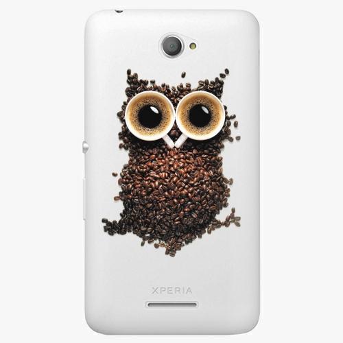 Plastový kryt iSaprio - Owl And Coffee - Sony Xperia E4