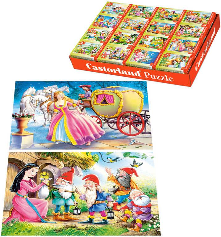 Minipuzzle Pohádky 54 dílků 16,5x11cm skládačka v krabičce 16 druhů