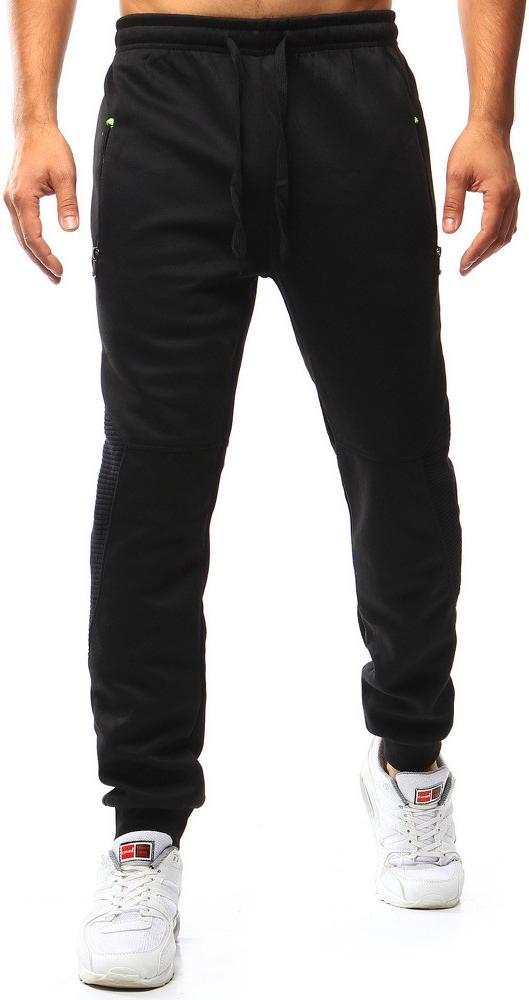 Pánské teplákové kalhoty W-1316 (ux0987) - Red Fireball - Černá/XXL