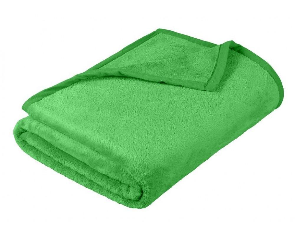 Deka micro dvojlůžko 200x230cm zelená