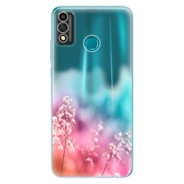 Odolné silikonové pouzdro iSaprio - Rainbow Grass - Honor 9X Lite