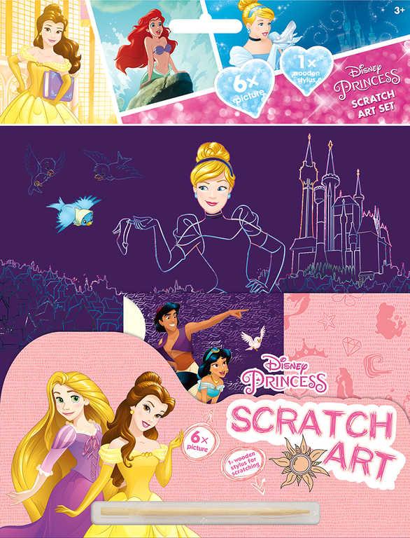 JIRI MODELS Set vyškrabávací obrázky Disney Princezny