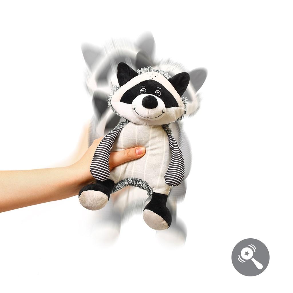 Plyšová hračka Baby Ono Racoon Rocky - bílá