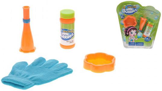 Bublifuk zábavný 56ml skákající bubliny set s rukavicí a doplňky 2 barvy