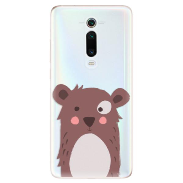Odolné silikonové pouzdro iSaprio - Brown Bear - Xiaomi Mi 9T Pro