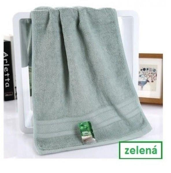 Bambusový ručník - 34 x 75 cm - 1ks - Zelený