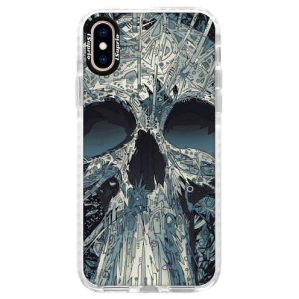 Silikonové pouzdro Bumper iSaprio - Abstract Skull - iPhone XS