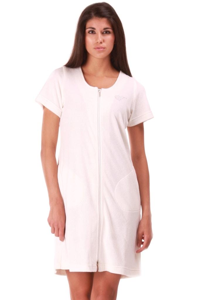 Plážové wellness šaty s krátkým rukávem VESTIS Bari 51641151 krémové