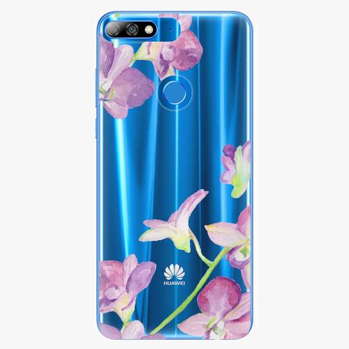 Silikonové pouzdro iSaprio - Purple Orchid - Huawei Y7 Prime 2018