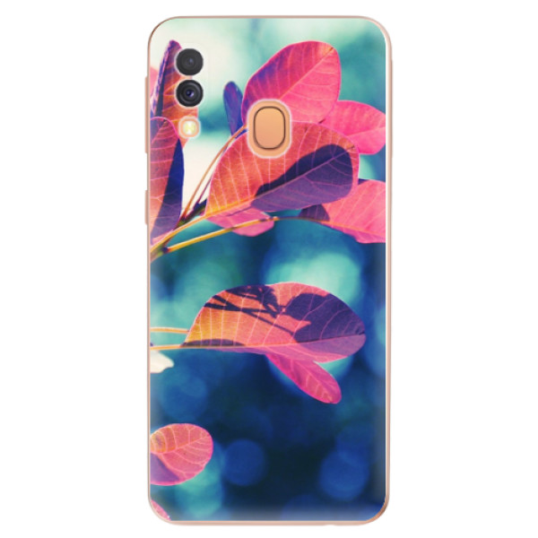 Odolné silikonové pouzdro iSaprio - Autumn 01 - Samsung Galaxy A40
