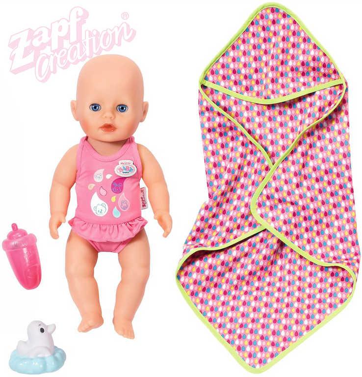 ZAPF CREATION My Little Baby Born panenka koupací set s lahvičkou a doplňky