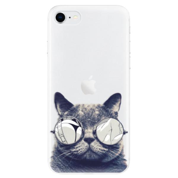 Odolné silikonové pouzdro iSaprio - Crazy Cat 01 - iPhone SE 2020