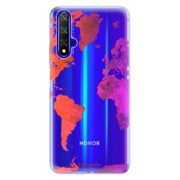 Odolné silikonové pouzdro iSaprio - Warm Map - Huawei Honor 20