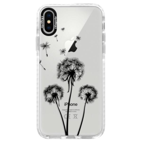 Silikonové pouzdro Bumper iSaprio - Three Dandelions - black - iPhone X