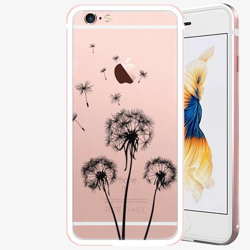 Plastový kryt iSaprio - Three Dandelions - black - iPhone 6/6S - Rose Gold