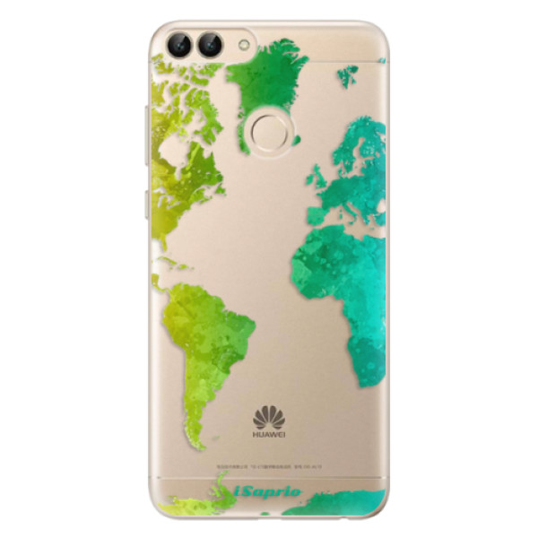 Odolné silikonové pouzdro iSaprio - Cold Map - Huawei P Smart