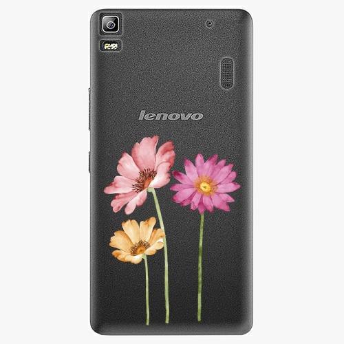 Plastový kryt iSaprio - Three Flowers - Lenovo A7000
